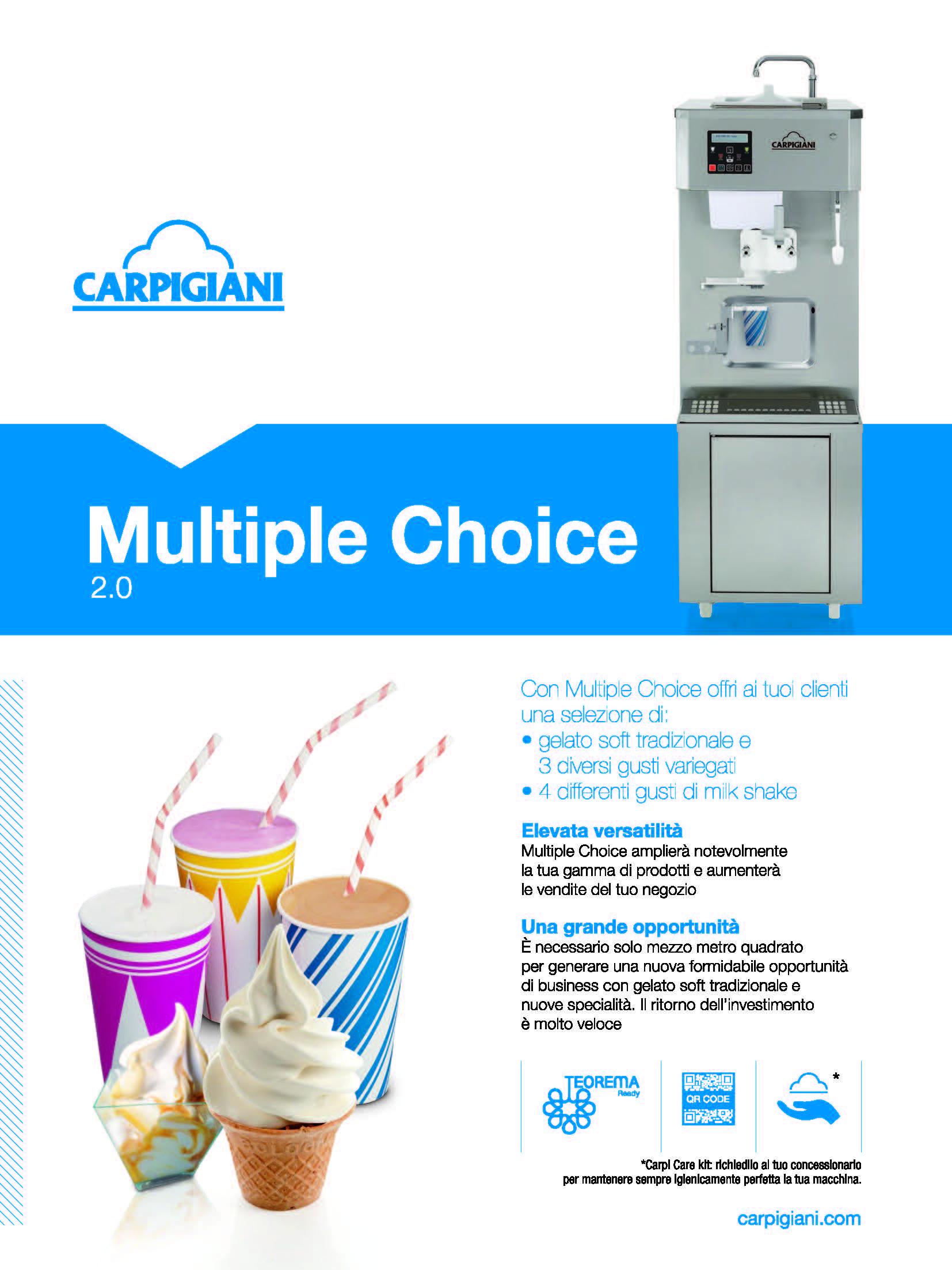 Carpigiani – Multiple Choice